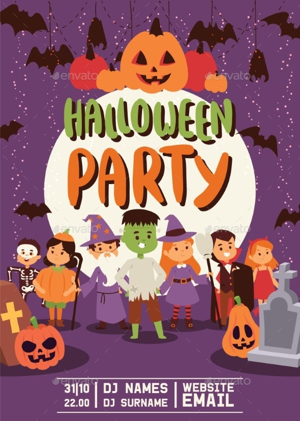 Halloween Kids Costume Trick or Treat Party - People Characters