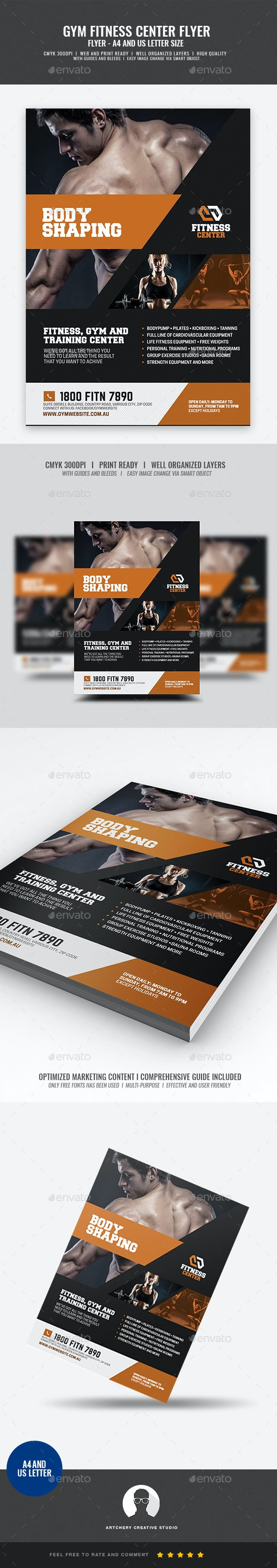 Gym Company Promotional Flyer - Corporate Flyers