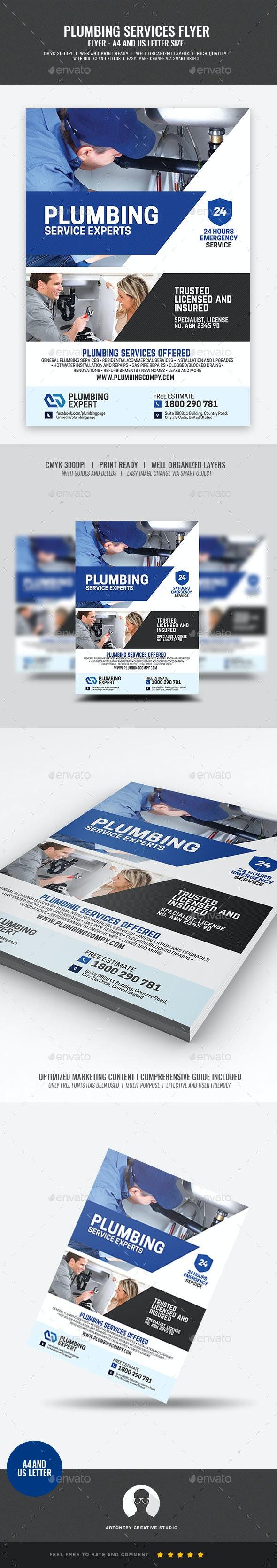 Plumbing Service Company Flyer - Commerce Flyers
