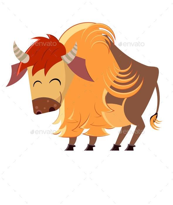 Cartoon Buffalo - Animals Characters
