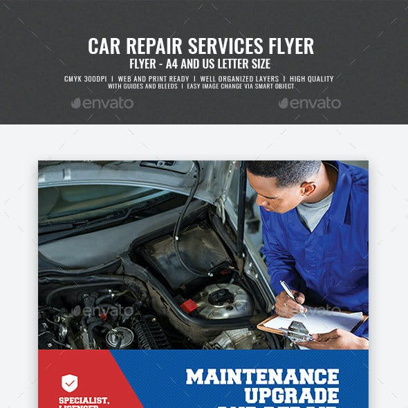 Car And Auto Mechanic Flyer