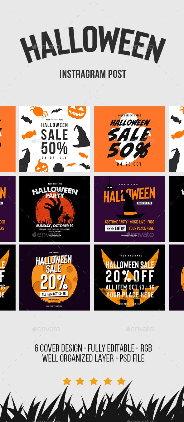 Halloween Instagram Post - Social Media Web Elements