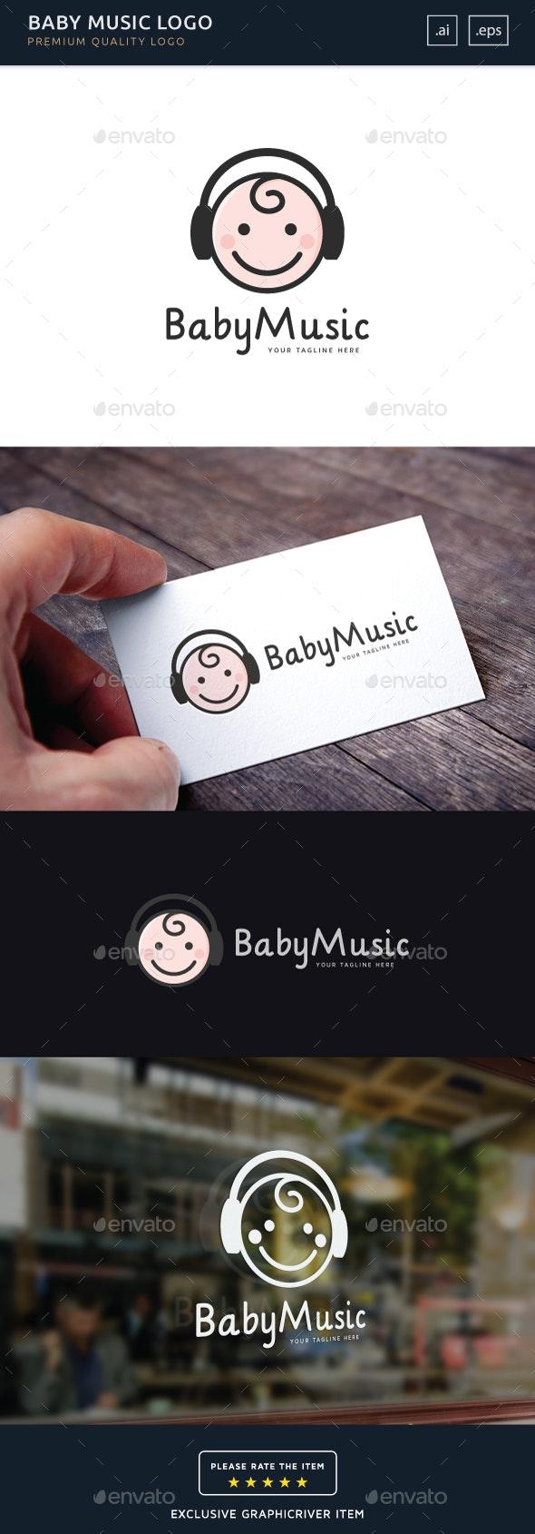 Baby Music - Logo Template - Humans Logo Templates