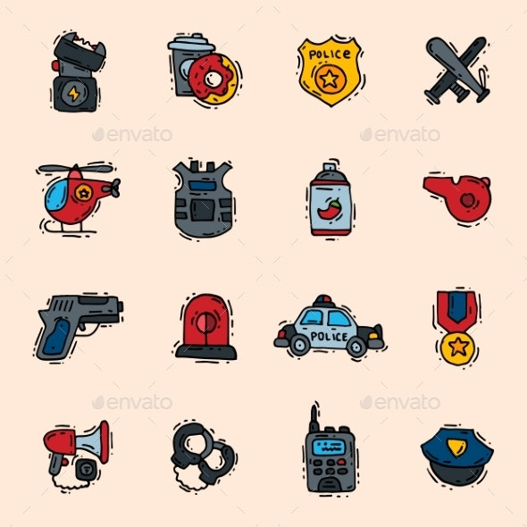 Police Icons - Miscellaneous Vectors