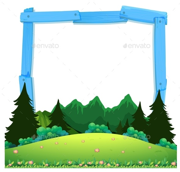 A Wooden Nature Frame - Borders Decorative