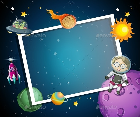 A Space Element Frame - People Characters
