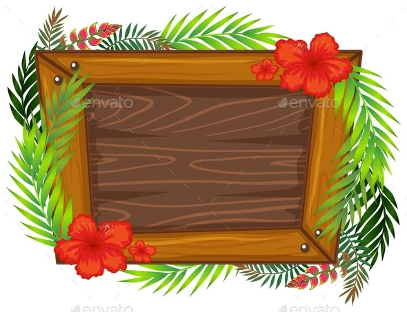 A Beautiful Wooden Frame - Borders Decorative