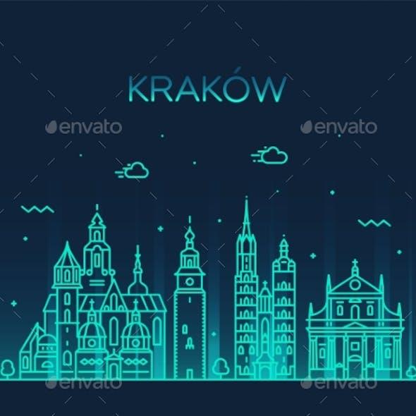 Krakow Skyline Poland