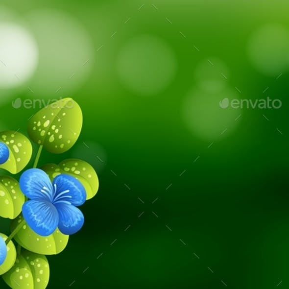 Beautiful Blue Flower Background