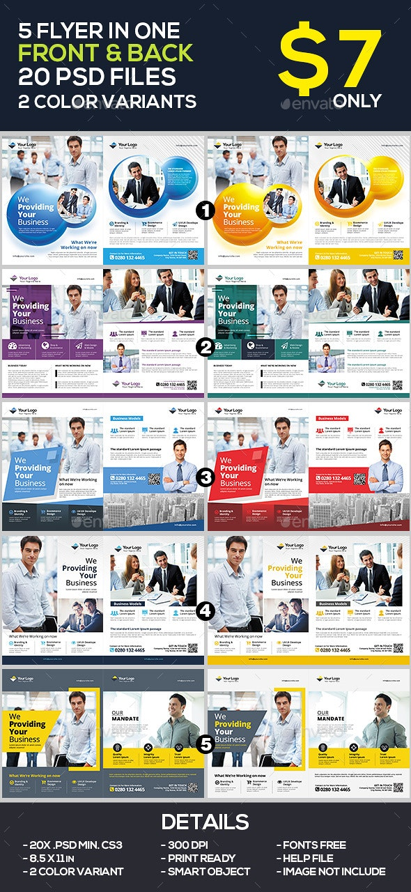 Business Flyer / Corporate Flyer Template Bundle - Corporate Flyers