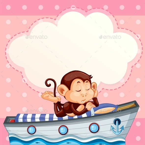 Monkey Sleeping on Boat Template - Miscellaneous Conceptual