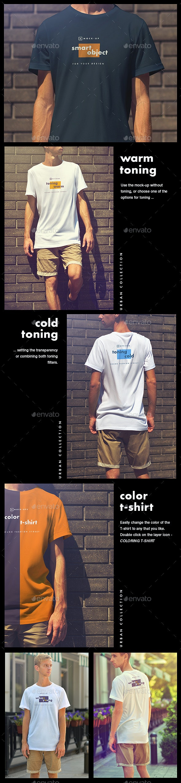 Mock-Ups T-Shirts Urban Style - Product Mock-Ups Graphics