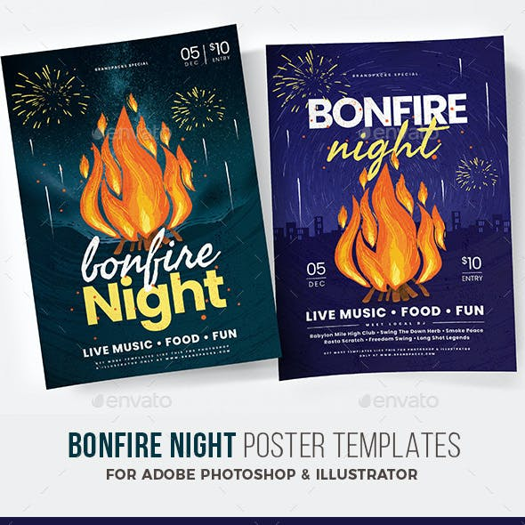 Bonfire Night Flyer / Poster