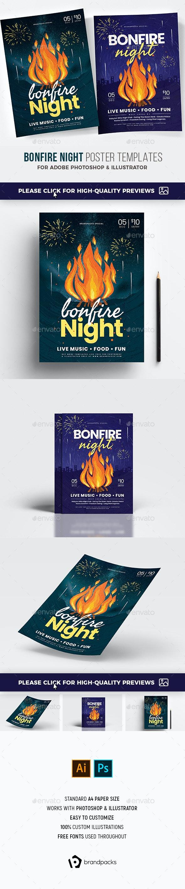 Bonfire Night Flyer / Poster - Holidays Events