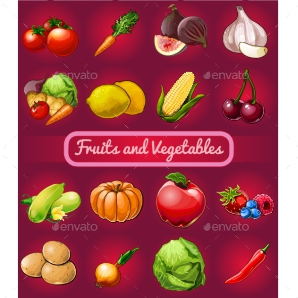 Poster with a Picture of Ripe and Healthy Vegetables - Food Objects