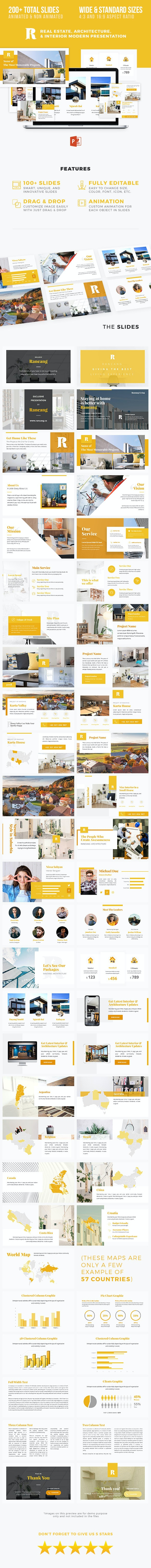 Architecture Real Estate Interior Presentation - Rancang - PowerPoint Templates Presentation Templates
