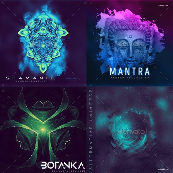 Electronic Music Album Cover Artwork Templates Bundle 3