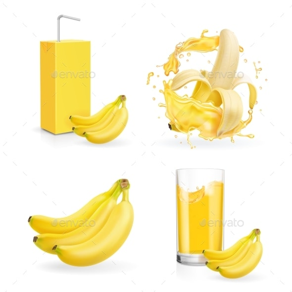 Banana Juice Collection - Food Objects