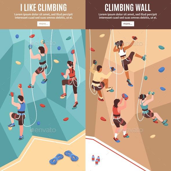 Climbing Vertical Banners Set - Sports/Activity Conceptual