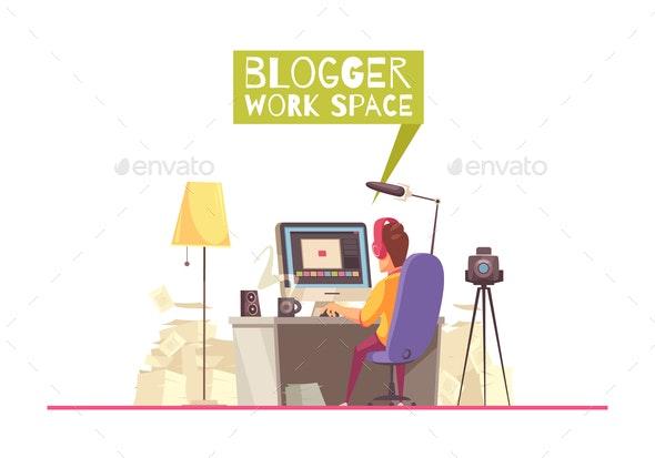 Blogging Work Space Background - Web Technology