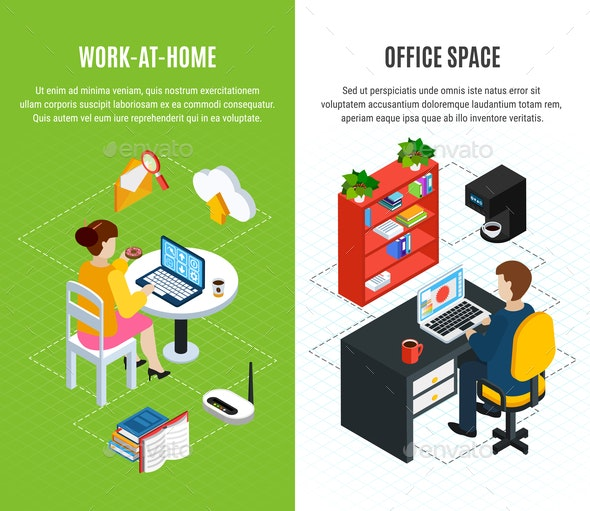 Office Space Vertical Banners - Concepts Business
