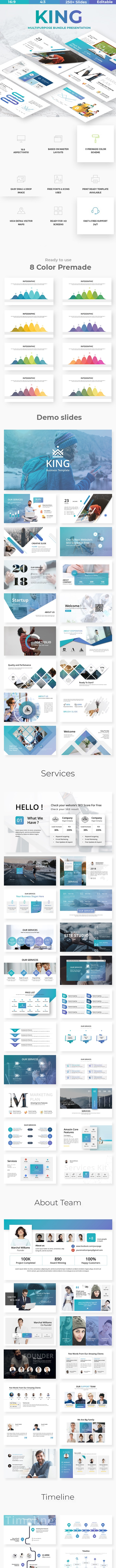 King Business Powerpoint Template - Miscellaneous PowerPoint Templates