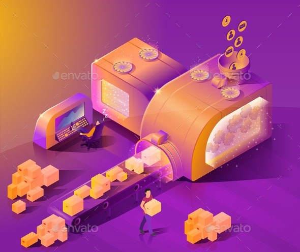 Automate Customer Service Isometric Vector Concept - People Characters
