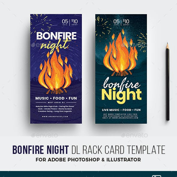 Bonfire Night DL Card