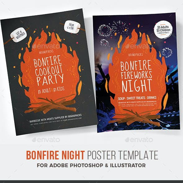 Bonfire Night Poster / Flyer