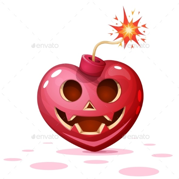 Halloween Illustration Heart - Miscellaneous Vectors