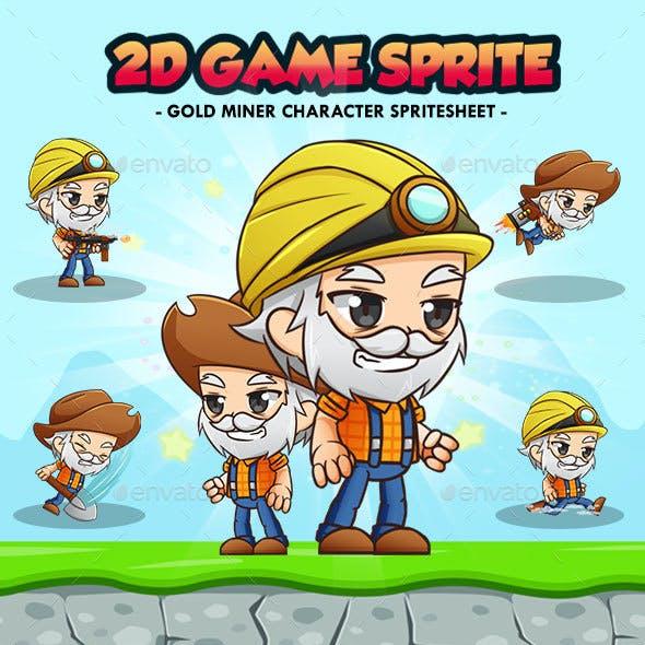 Gold Miner Old Man - 2D Game Character Sprites