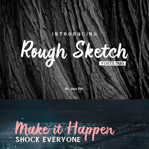 Rough Sketch - fonts duo