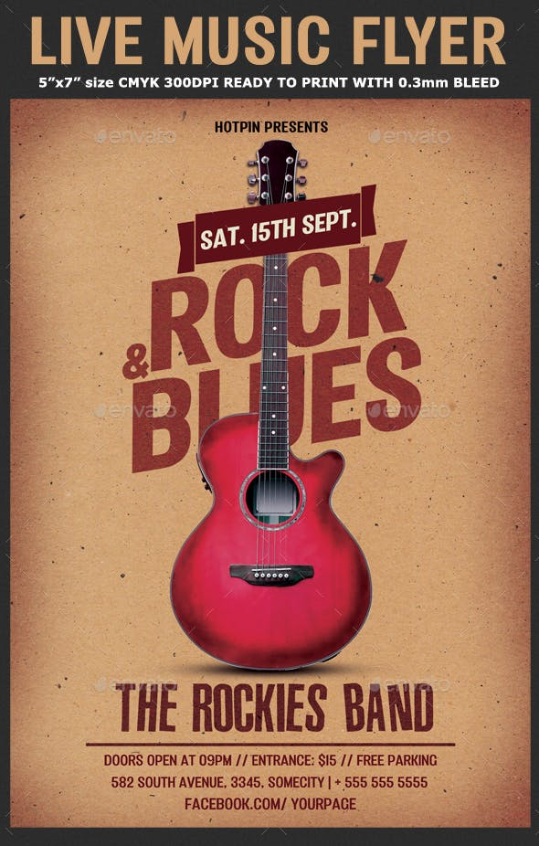 Live Music Flyer Template By Hotpin Graphicriver