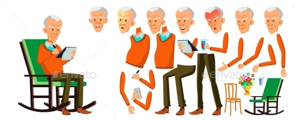 Old Man Vector - People Characters