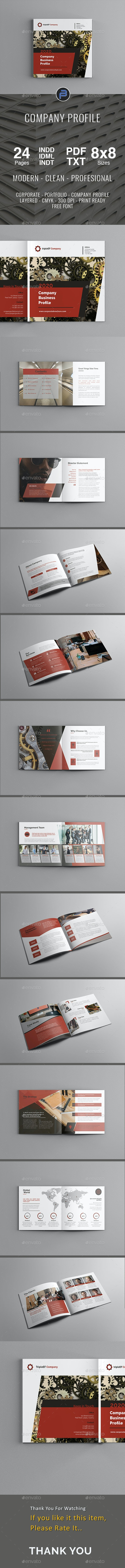 Red Company Profile by tripleEF | GraphicRiver