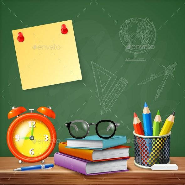 School Supplies Vector Illustration - Miscellaneous Vectors