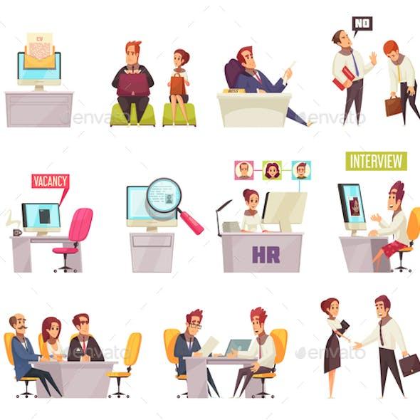 Resume Recruiting Icon Set