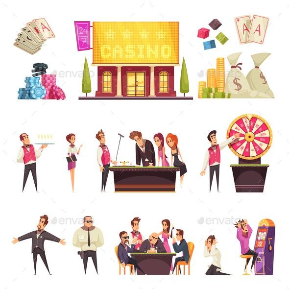 Casino Life Characters Set - Miscellaneous Vectors