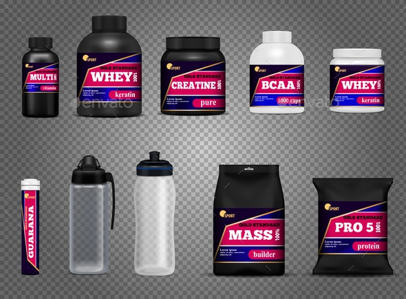 Fitness Sport Bottles Packages - Food Objects