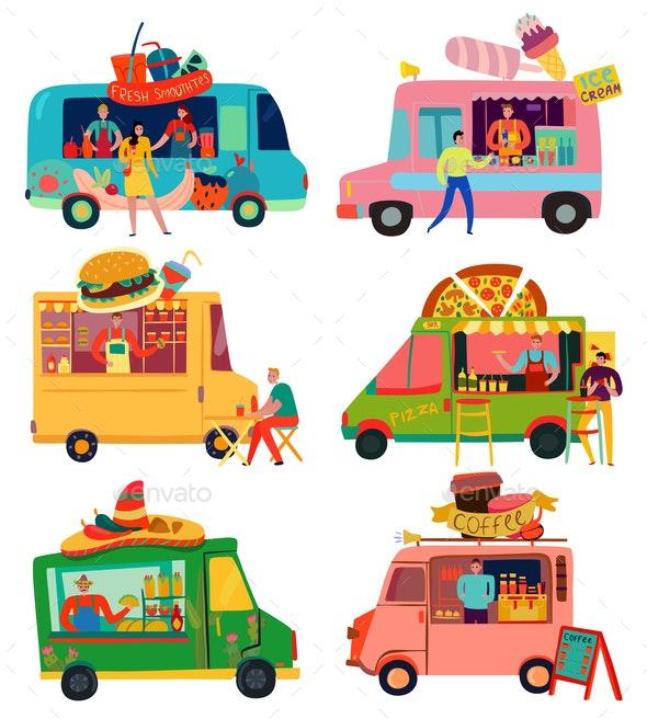 Food Trucks Set - Food Objects