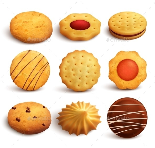 Cookies Realistic Set - Food Objects