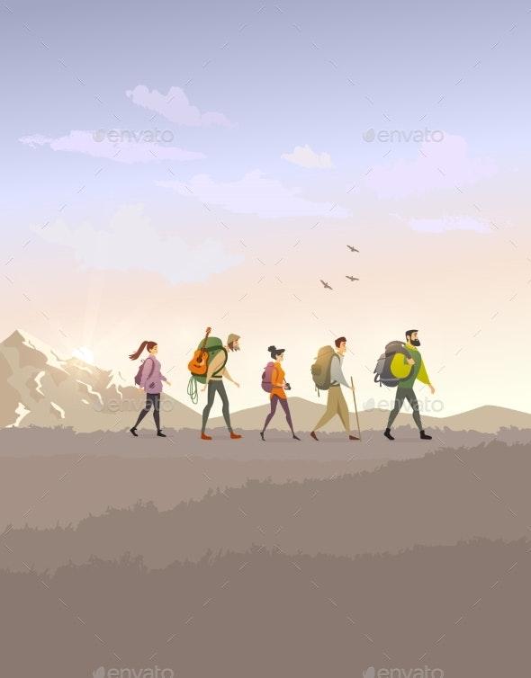 Trekking Color - Sports/Activity Conceptual