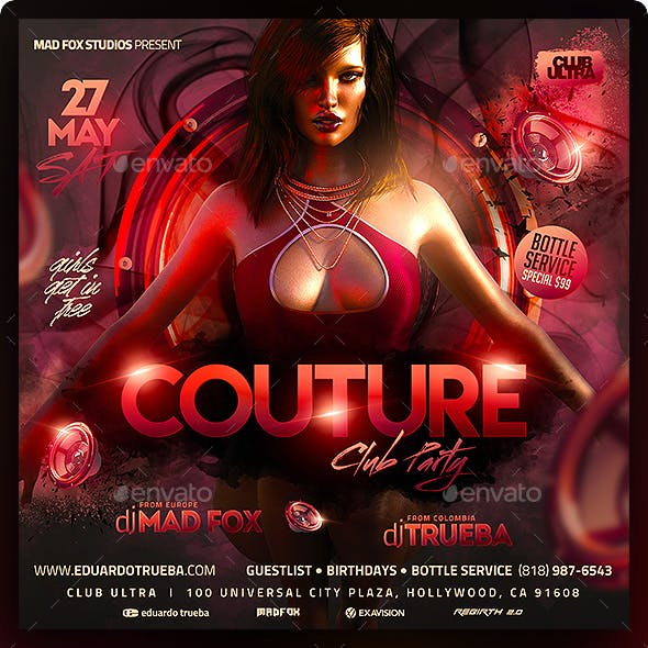 Couture Club Party Flyer