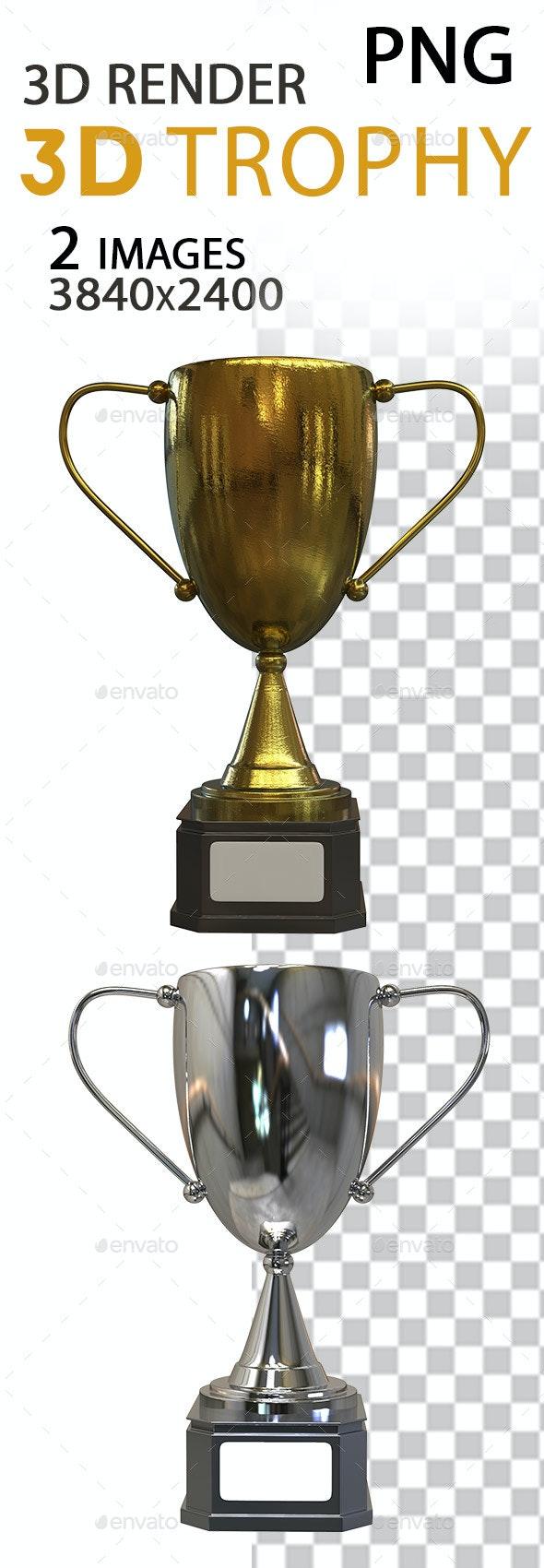 3D Trophy - Objects 3D Renders