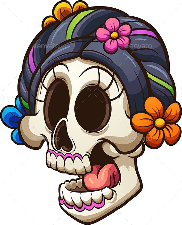 Catrina Skull - Halloween Seasons/Holidays