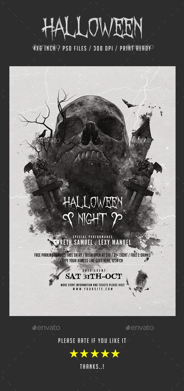 Halloween Skull Flyer Promotional Item - Holidays Events