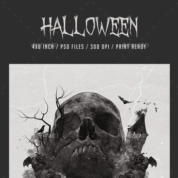 Halloween Skull Flyer Promotional Item