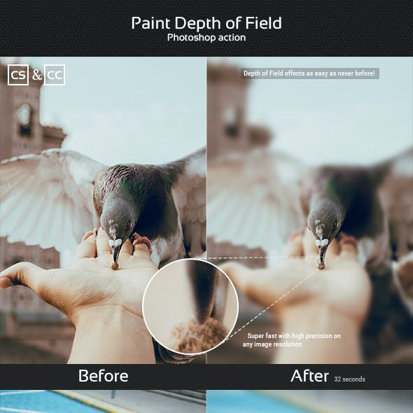 Paint Depth of Field Photoshop Action