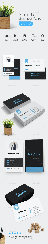 Minimalist Business Card Vol. 12 - Business Cards Print Templates