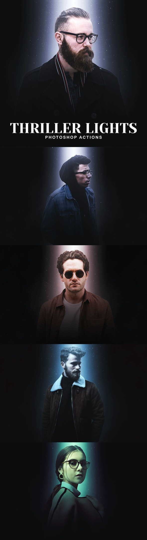 Thriller Lights Photoshop Actions - Photo Effects Actions